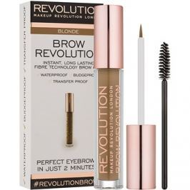 Makeup Revolution Brow Revolution fixáló gél szemöldökre árnyalat Blonde 3,8 g