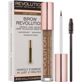 Makeup Revolution Brow Revolution fixáló gél szemöldökre árnyalat Soft Brown 3,8 g