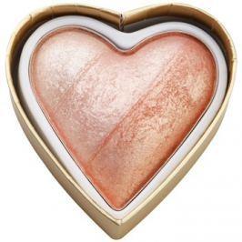 Makeup Revolution I ♥ Makeup Blushing Hearts arcpirosító árnyalat Peachy Pink Kisses 10 g