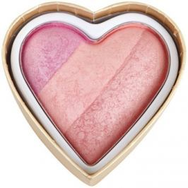 Makeup Revolution I ♥ Makeup Blushing Hearts arcpirosító árnyalat Candy Queen Of Hearts 10 g