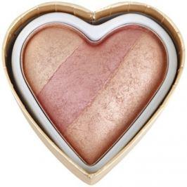 Makeup Revolution I ♥ Makeup Blushing Hearts arcpirosító árnyalat Peachy Keen Heart 10 g