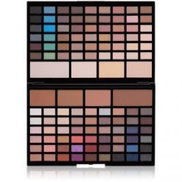 Makeup Revolution Pro HD Eyes & Contour szemhéjfesték kontúrozó púder paletta  élénkítővel  60,5 g