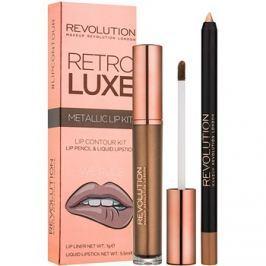 Makeup Revolution Retro Luxe fémes ajak szett árnyalat We Rule 5,5 ml