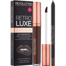 Makeup Revolution Retro Luxe matt szett ajkakra árnyalat Glory 5,5 ml