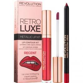 Makeup Revolution Retro Luxe fémes ajak szett árnyalat Regent 5,5 ml