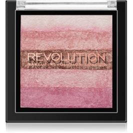Makeup Revolution Shimmer Brick bronzosító és élénkítő 2 az 1-ben árnyalat Pink Kiss 7 g