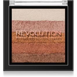Makeup Revolution Shimmer Brick bronzosító és élénkítő 2 az 1-ben árnyalat Bronze Kiss 7 g