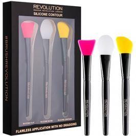 Makeup Revolution Silicone Contour szilikonos kontúrozó ecset szett  3 db