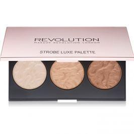 Makeup Revolution Strobe Luxe bőrvilágosító paletta  11,5 g