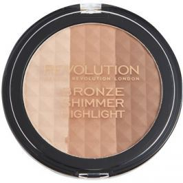 Makeup Revolution Ultra Bronze Shimmer HIghlight élénkítő bronzosító púder  15 g