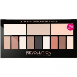 Makeup Revolution Ultra Eye Contour szemkontúrozó paletta árnyalat Light & Shade 14 g