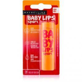Maybelline Baby Lips Sport hidratáló ajakbalzsam SPF 20 árnyalat 31 Red-Dy for Sun  4,4 g