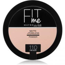 Maybelline Fit Me! Matte+Poreless mattító púder árnyalat 110 Fair Ivory 14 g