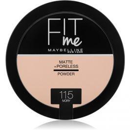 Maybelline Fit Me! Matte+Poreless mattító púder árnyalat 115 Ivory 14 g