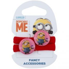 Minions Accessories Stuart hajgumik 3 éves kortól (Red) 2 db