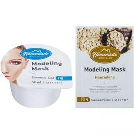 Missha Homemade Oatmeal Powder formázó arcmaszk tápláló hatással 5 g + 50 ml
