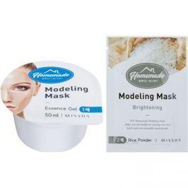 Missha Homemade Rice Powder modellezó arcmaszk bőrélénkítő hatással 5 g + 50 ml