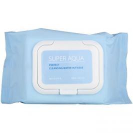 Missha Super Aqua Perfect tisztító papírtörlők az arcra hidratáló hatással  30 db