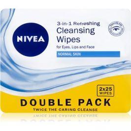 Nivea 3in1 Refreshing sminklemosó kendő normál bőrre Double Pack 2 x 25 db