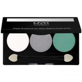 NYX Professional Makeup Triple szemhéjfesték paletták árnyalat 16 Opal/Platinum Silver/Luster 2,1 g