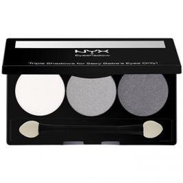 NYX Professional Makeup Triple szemhéjfesték paletták árnyalat 20 White Pearl/Silver/Charcoal 2,1 g
