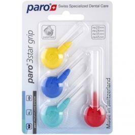 Paro 3Star Grip háromszög alakú fogköztisztító kefe 4 db mix Mix 1091 - 1095