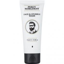 Percy Nobleman Face & Stubble tisztító gél az arcra és a szakállra  75 ml