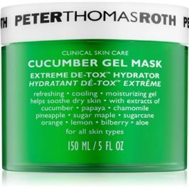 Peter Thomas Roth Cucumber De-Tox hidratáló gél maszk az arcra és a szem környékére  150 ml