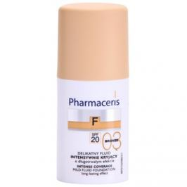 Pharmaceris F-Fluid Foundation intenzív fedő krém make-up alá, hosszantartó hatással SPF 20 árnyalat 03 Bronze  30 ml