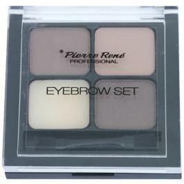 Pierre René Eyes Eyebrow paletta a szemöldök sminkeléséhez árnyalat 01 Brown 4,5 g