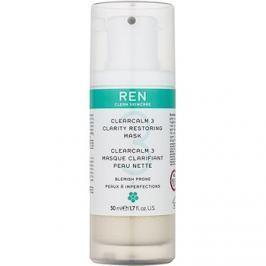 REN ClearCalm 3 élénkítő maszk problémás és pattanásos bőrre  50 ml