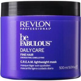 Revlon Professional Be Fabulous Daily Care regeneráló és hidratáló maszk a finom hajért  500 ml