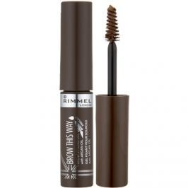 Rimmel Brow This Way szemöldök korrekciós gél árnyalat 002 Medium Brown 5 ml
