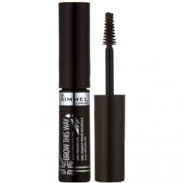 Rimmel Brow This Way szemöldök korrekciós gél árnyalat 003 Dark Brown 5 ml