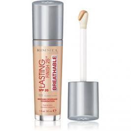 Rimmel Lasting Finish 25H Breathable folyékony make-up SPF 20 árnyalat 101 Classic Ivory 30 ml