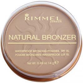 Rimmel Natural Bronzer vízálló bronzosító púder SPF15 árnyalat 022 Sun Bronze 14 g