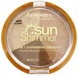 Rimmel Sun Shimmer 3 in 1 Shimmering Bonzer csillogó bronzpúder árnyalat 002 Bronze Goddess  9,9 g