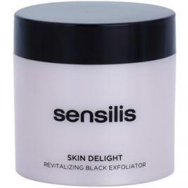 Sensilis Skin Delight revitalizáló peeling aktív szénnel az arcbőr valódi ragyogásáért  75 ml
