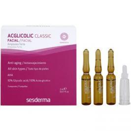 Sesderma Acglicolic Classic Facial szérum a komplex mélyráncokra  5 x 2 ml