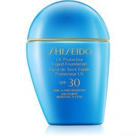 Shiseido Sun Foundation vízálló folyékony make-up SPF30 árnyalat Dark Beige  30 ml