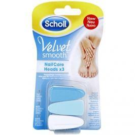 Scholl Velvet Smooth tartalék fejek elektromos körömreszelőhöz 3 db  3 db