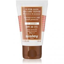 Sisley Sun védő tonizáló krém arcra SPF30 árnyalat 2 Golden  40 ml