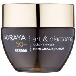 Soraya Art & Diamonds fiatalító éjszakai krém gyémántporral 50+  50 ml