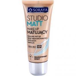 Soraya Studio Matt mattító make-up E-vitaminnal árnyalat 02 Warm Beige  30 ml