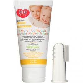 Splat Baby természetes fogkrém gyermekeknek masszírozó kefével íz Vanilla 40 ml