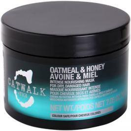 TIGI Catwalk Oatmeal & Honey intenzív tápláló maszk száraz és sérült hajra  200 g