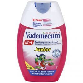Vademecum 2 in1 Junior fogkrém + szájvíz egyben íz Strawberry 75 ml