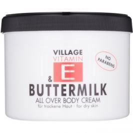 Village Vitamin E Buttermilk testápoló krém parabénmentes  500 ml