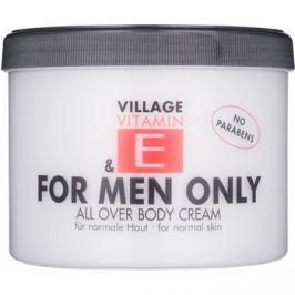 Village Vitamin E For Men Only testápoló krém parabénmentes