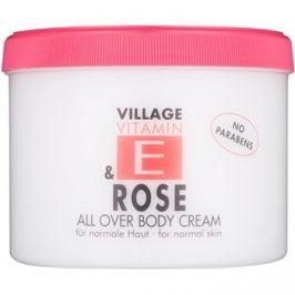 Village Vitamin E Rose testápoló krém parabénmentes  500 ml